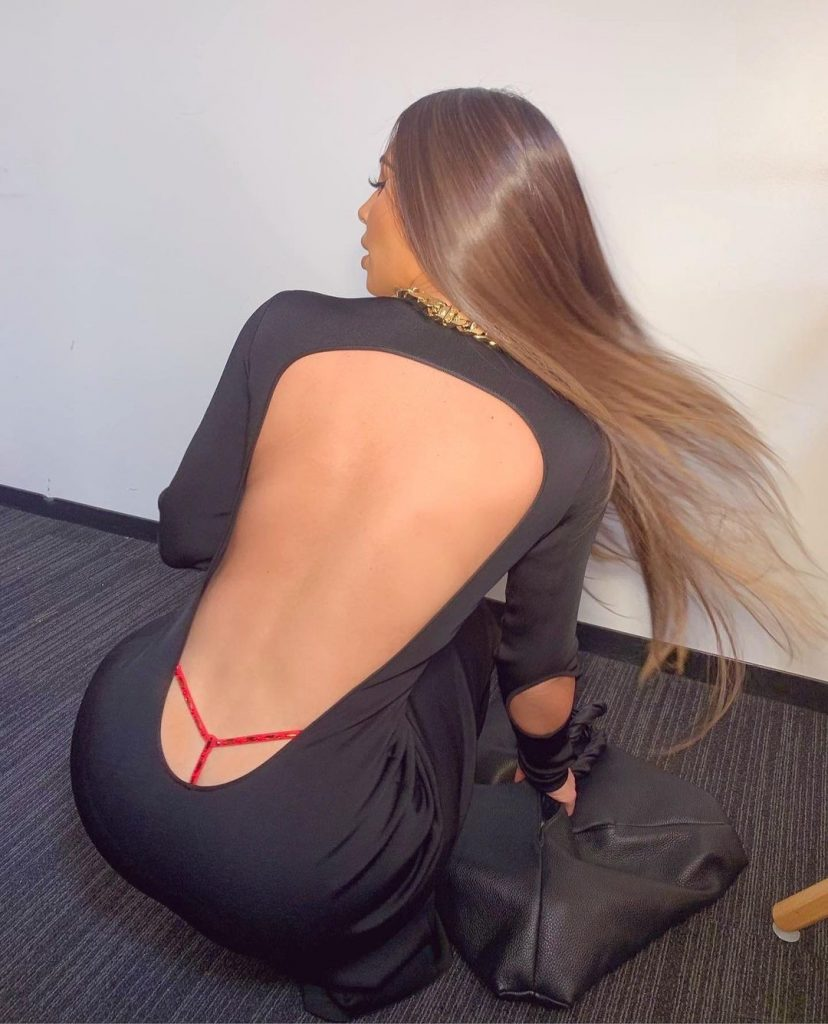 Kim Kardashian Displays Thong Underneath Backless Givenchy Outfit