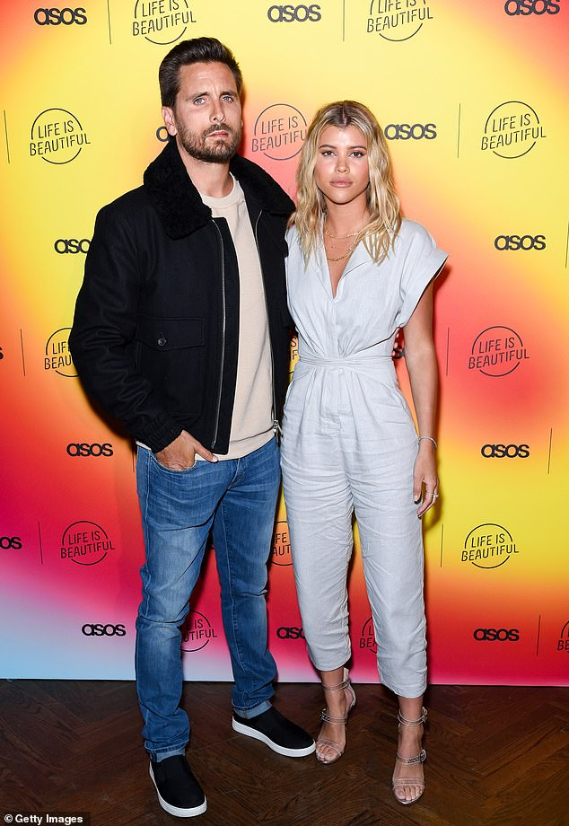 Clearing her feed: Sofia Richihe, 22, has unfollowed her ex-boyfriend Scott Disick on Instagram, following their breakup in May; shown in April 2019