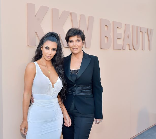 Kim Kardashian West (L) and Kris Jenner attend KKW Beauty Fan Event at KKW Beauty on June 30, 2018
